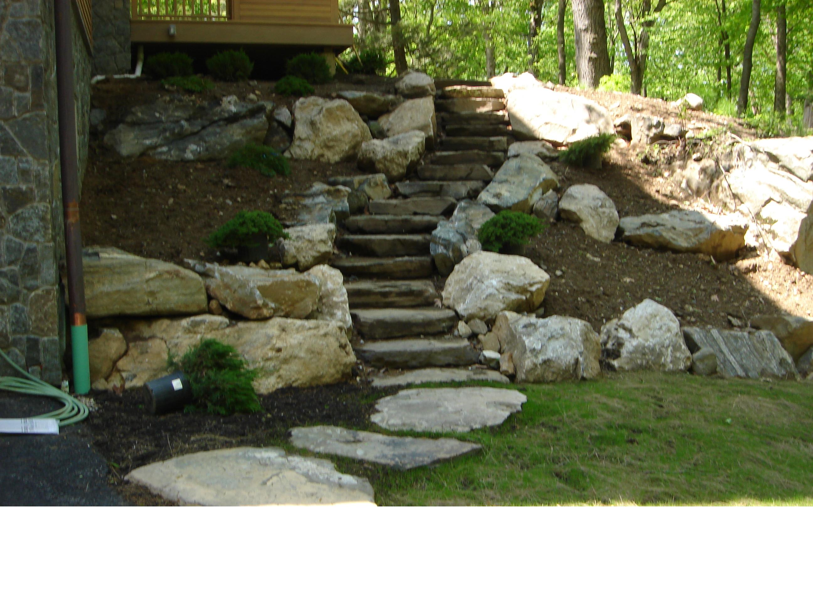 Custom Natural Stone Stairway